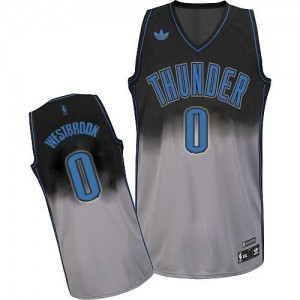Maillot Swingman Oklahoma City Thunder NBA Fadeaway Fashion Gris noir - #0 Russell Westbrook - Homme