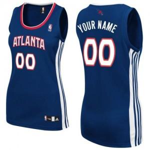 Atlanta Hawks Authentic Personnalisé Road Maillot d'équipe de NBA - Bleu marin pour Femme