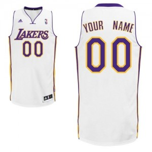 Maillot Los Angeles Lakers NBA Alternate Blanc - Personnalisé Swingman - Homme
