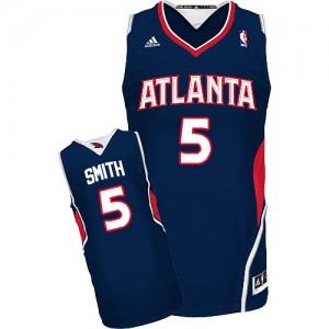Atlanta Hawks #5 Adidas Road Bleu marin Swingman Maillot d'équipe de NBA préférentiel - Josh Smith pour Homme