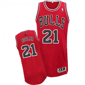 Maillot Authentic Chicago Bulls NBA Road Rouge - #21 Jimmy Butler - Homme