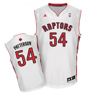 Maillot NBA Swingman Patrick Patterson #54 Toronto Raptors Home Blanc - Homme