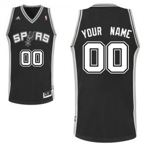 Maillot NBA Noir Swingman Personnalisé San Antonio Spurs Road Homme Adidas