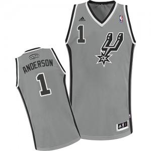 San Antonio Spurs Kyle Anderson #1 Alternate Swingman Maillot d'équipe de NBA - Gris argenté pour Homme
