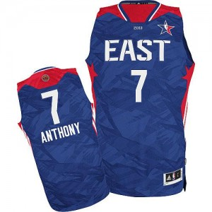 Maillot NBA New York Knicks #7 Carmelo Anthony Bleu Adidas Authentic 2013 All Star - Homme