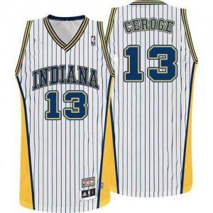 Indiana Pacers #13 Adidas Throwback Blanc Authentic Maillot d'équipe de NBA Soldes discount - Paul George pour Homme