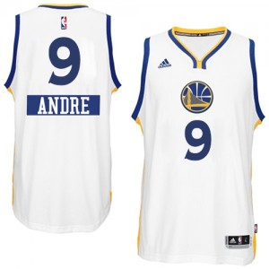 Maillot Authentic Golden State Warriors NBA 2014-15 Christmas Day Blanc - #9 Andre Iguodala - Homme