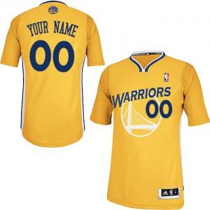 Golden State Warriors Personnalisé Adidas Alternate Or Maillot d'équipe de NBA 100% authentique - Authentic pour Femme