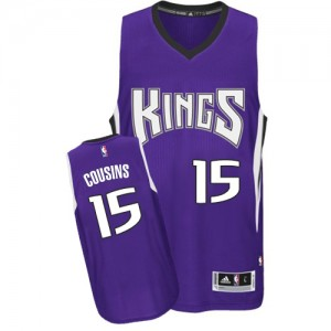 Maillot NBA Authentic DeMarcus Cousins #15 Sacramento Kings Road Violet - Homme