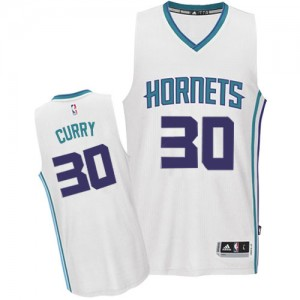 Maillot Adidas Blanc Home Authentic Charlotte Hornets - Dell Curry #30 - Homme