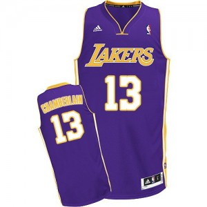 Maillot Adidas Violet Road Swingman Los Angeles Lakers - Wilt Chamberlain #13 - Homme