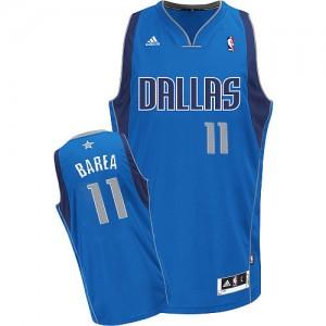 Maillot Adidas Bleu royal Road Swingman Dallas Mavericks - Jose Barea #11 - Homme