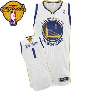 Maillot Adidas Blanc Home 2015 The Finals Patch Authentic Golden State Warriors - Ognjen Kuzmic #1 - Homme