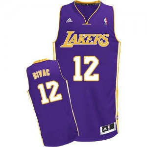 Maillot Adidas Violet Road Swingman Los Angeles Lakers - Vlade Divac #12 - Homme