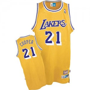 Los Angeles Lakers #21 Mitchell and Ness Throwback Or Authentic Maillot d'équipe de NBA magasin d'usine - Michael Cooper pour Homme