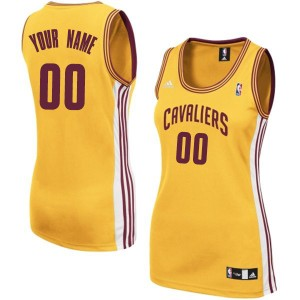 Maillot NBA Cleveland Cavaliers Personnalisé Swingman Or Adidas Alternate - Femme