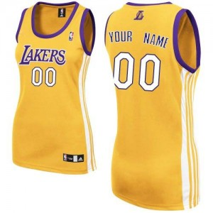 Maillot Los Angeles Lakers NBA Home Or - Personnalisé Authentic - Femme