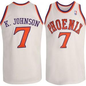 Phoenix Suns #7 Adidas New Throwback Blanc Swingman Maillot d'équipe de NBA achats en ligne - Kevin Johnson pour Homme