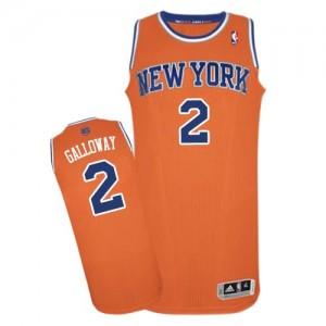 New York Knicks #2 Adidas Alternate Orange Authentic Maillot d'équipe de NBA Vente - Langston Galloway pour Femme