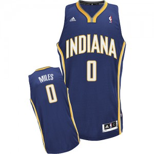 Maillot NBA Bleu marin C.J. Miles #0 Indiana Pacers Road Swingman Homme Adidas
