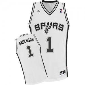 San Antonio Spurs Kyle Anderson #1 Home Swingman Maillot d'équipe de NBA - Blanc pour Homme