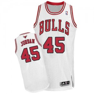 Maillot NBA Authentic Michael Jordan #45 Chicago Bulls Home Blanc - Homme