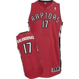 Maillot Adidas Rouge Road Authentic Toronto Raptors - Jonas Valanciunas #17 - Homme