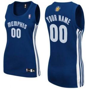 Maillot Memphis Grizzlies NBA Road Bleu marin - Personnalisé Authentic - Femme