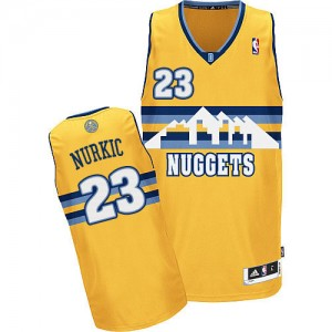 Maillot NBA Denver Nuggets #23 Jusuf Nurkic Or Adidas Authentic Alternate - Homme