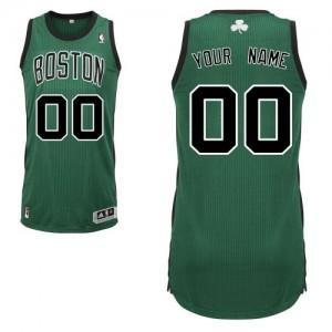 Boston Celtics Authentic Personnalisé Alternate Maillot d'équipe de NBA - Vert (No. noir) pour Enfants