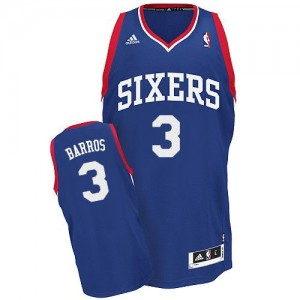 Maillot Adidas Bleu royal Alternate Swingman Philadelphia 76ers - Dana Barros #3 - Homme