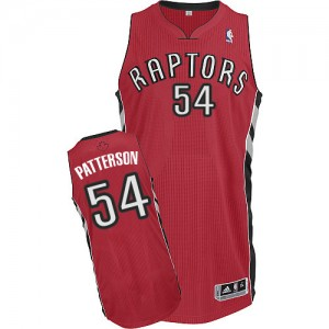 Toronto Raptors Patrick Patterson #54 Road Authentic Maillot d'équipe de NBA - Rouge pour Homme