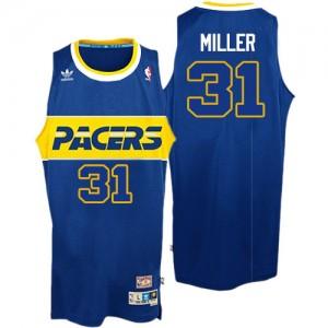 Indiana Pacers #31 Adidas Rookie Throwback Bleu Authentic Maillot d'équipe de NBA pas cher - Reggie Miller pour Homme