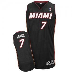 Miami Heat #7 Adidas Road Noir Authentic Maillot d'équipe de NBA pas cher - Goran Dragic pour Homme