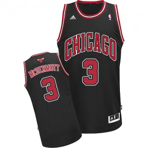 Chicago Bulls #3 Adidas Alternate Noir Authentic Maillot d'équipe de NBA Magasin d'usine - Doug McDermott pour Homme