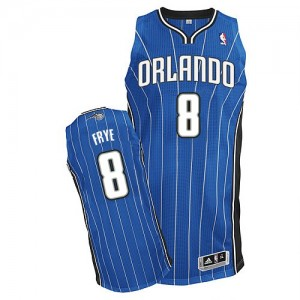 Maillot NBA Authentic Channing Frye #8 Orlando Magic Road Bleu royal - Homme