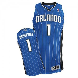 Maillot NBA Orlando Magic #1 Penny Hardaway Bleu royal Adidas Authentic Road - Homme