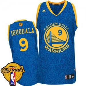 Maillot Swingman Golden State Warriors NBA Crazy Light 2015 The Finals Patch Bleu - #9 Andre Iguodala - Homme