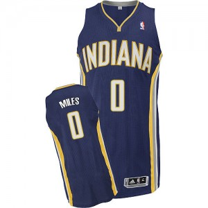 Maillot NBA Bleu marin C.J. Miles #0 Indiana Pacers Road Authentic Homme Adidas