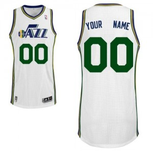 Maillot NBA Blanc Authentic Personnalisé Utah Jazz Home Enfants Adidas