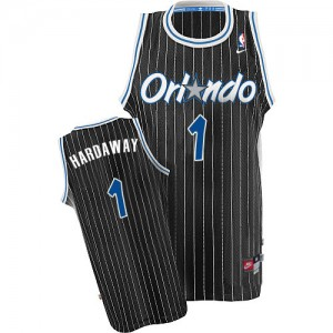 Maillot NBA Orlando Magic #1 Penny Hardaway Noir Nike Authentic Throwback - Homme