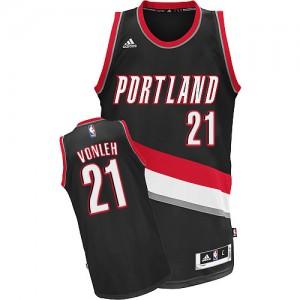 Portland Trail Blazers Noah Vonleh #21 Road Swingman Maillot d'équipe de NBA - Noir pour Homme