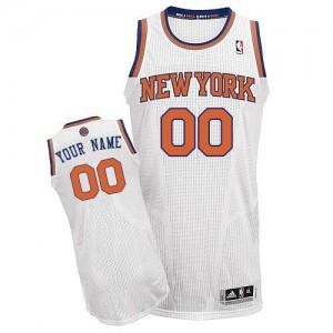 New York Knicks Authentic Personnalisé Home Maillot d'équipe de NBA - Blanc pour Enfants