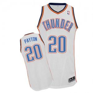 Oklahoma City Thunder Gary Payton #20 Home Authentic Maillot d'équipe de NBA - Blanc pour Homme