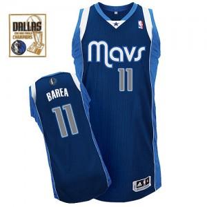 Maillot Authentic Dallas Mavericks NBA Alternate Champions Patch Bleu marin - #11 Jose Barea - Homme