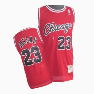 Maillot NBA Rouge Michael Jordan #23 Chicago Bulls Throwback Authentic Enfants Nike