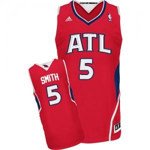 Atlanta Hawks #5 Adidas Alternate Rouge Swingman Maillot d'équipe de NBA Discount - Josh Smith pour Homme
