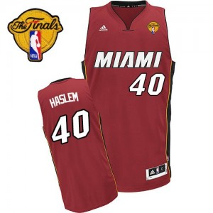 Maillot NBA Swingman Udonis Haslem #40 Miami Heat Alternate Finals Patch Rouge - Homme