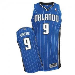 Maillot NBA Orlando Magic #9 Nikola Vucevic Bleu royal Adidas Authentic Road - Homme
