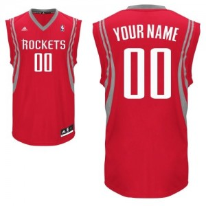 Maillot NBA Rouge Swingman Personnalisé Houston Rockets Road Enfants Adidas